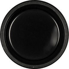 "Jet Black Dessert Plates, 7"" - 20ct"