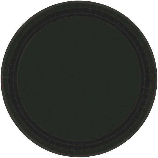 "Jet Black Paper Dessert Plates, 7"" - 20ct"
