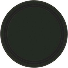 "Jet Black Lunch Plates, 9"" - 20ct"