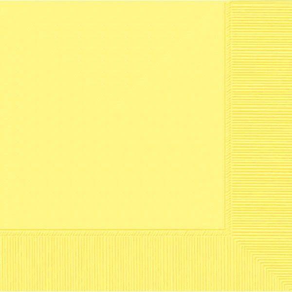 Light Yellow 2-Ply Beverage Napkins, 50ct