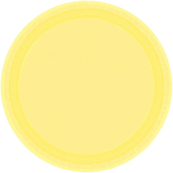 """Light Yellow Lunch Plates, 9"""" - 20ct"""