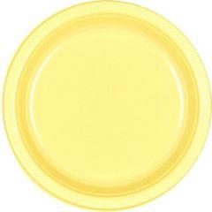"Light Yellow Dessert Plates, 7"" - 20ct"
