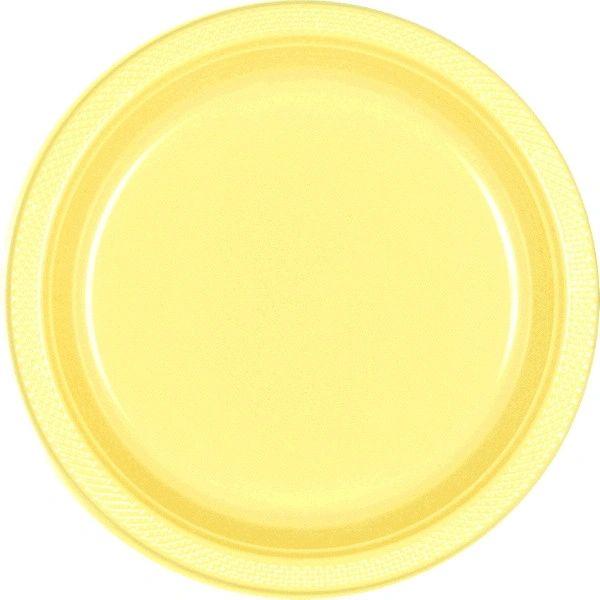 "Light Yellow Dinner Plates, 10 1/4"" - 20ct"