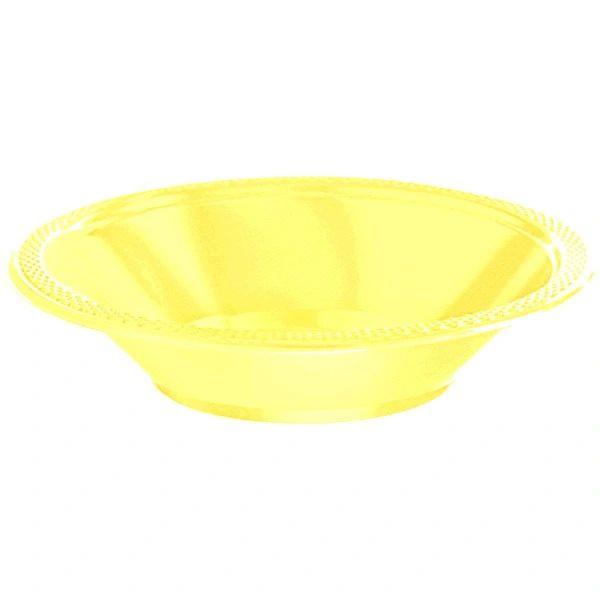 Light Yellow Plastic Bowls, 12oz - 20ct