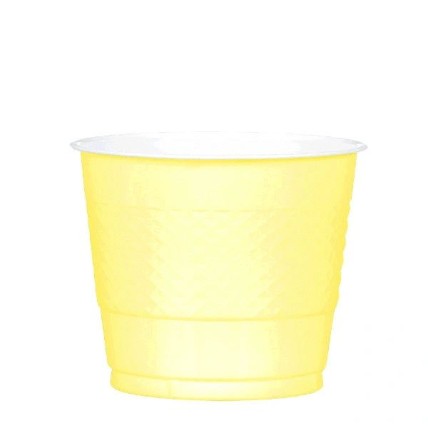 Light Yellow Plastic Cups, 9 oz - 20ct