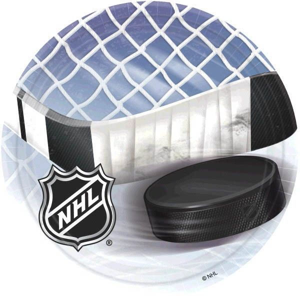"NHL Ice Time! 9"" Plates"