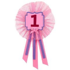 1st Birthday Girl Award Ribbon