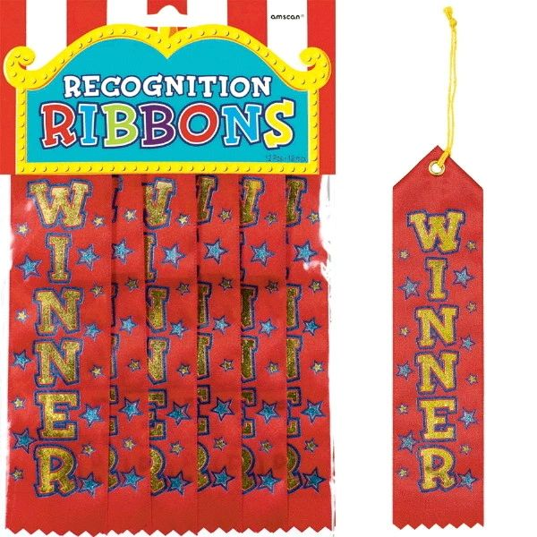 Winner Recognition Ribbons, 12ct