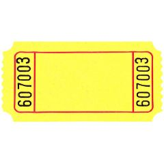 Yellow Blank Ticket Roll