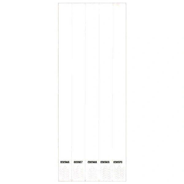 White Wristbands, 500 ct.