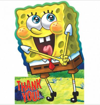 SpongeBob Thank You Notes, 8ct