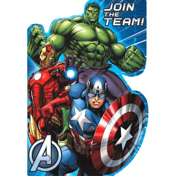 Marvel Epic Avengers™ Postcard Invitations, 8ct