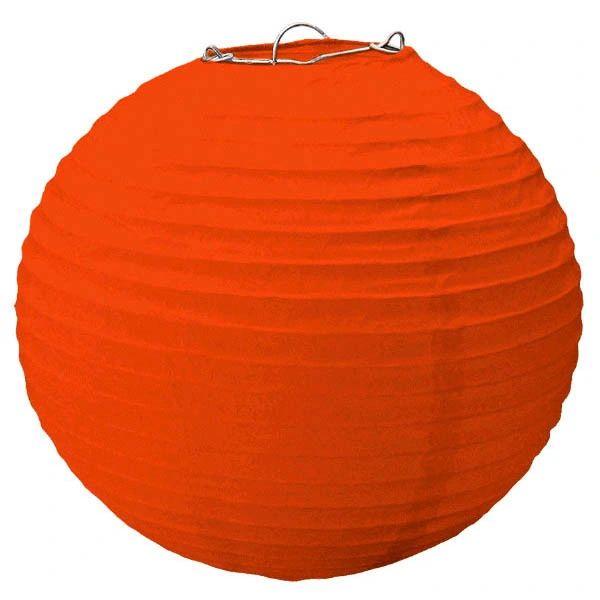 Large Orange Paper Lantern