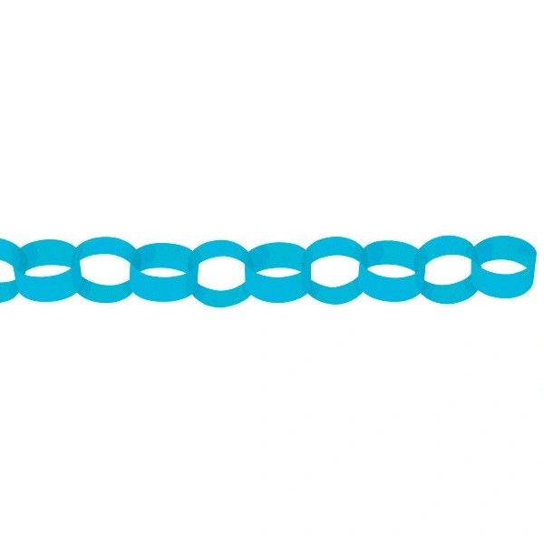 Caribbean Blue Chain Link Garlands