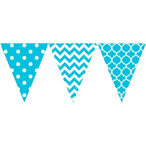Large Printed Pennant Banners - Caribbean