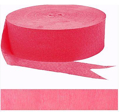Jumbo Bright Pink Crepe Streamer, 500ft