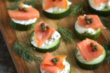 smoked salmon Appetizer starter nibble hors d'oeuvre cocktail snack taster