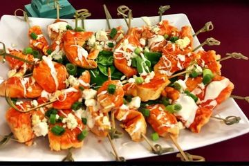 CHICKEN SKEWERS Appetizer starter nibble hors d'oeuvre cocktail snack taster