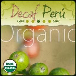 Organic Decaf 'Swiss Water' Peru Coffee