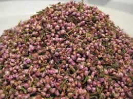 Heather Flowers Rubbed