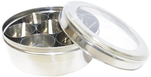 Hammered Stainless Steel Masala Spice Box