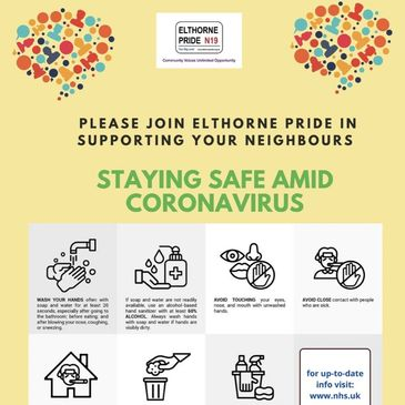 Join Elthorne Pride in supporting your local community during the Coronavirus pandemic.
