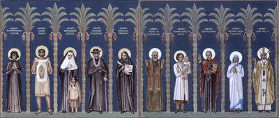 Mural of Saints