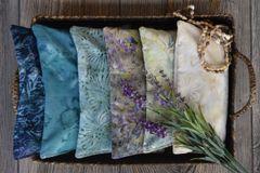 Batik Lavender-Filled Eye Pillows