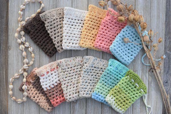 Hand-Crocheted Soap Sacks