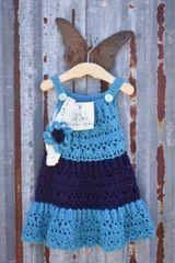 Hand Crochet Baby Dress and Flower Headband