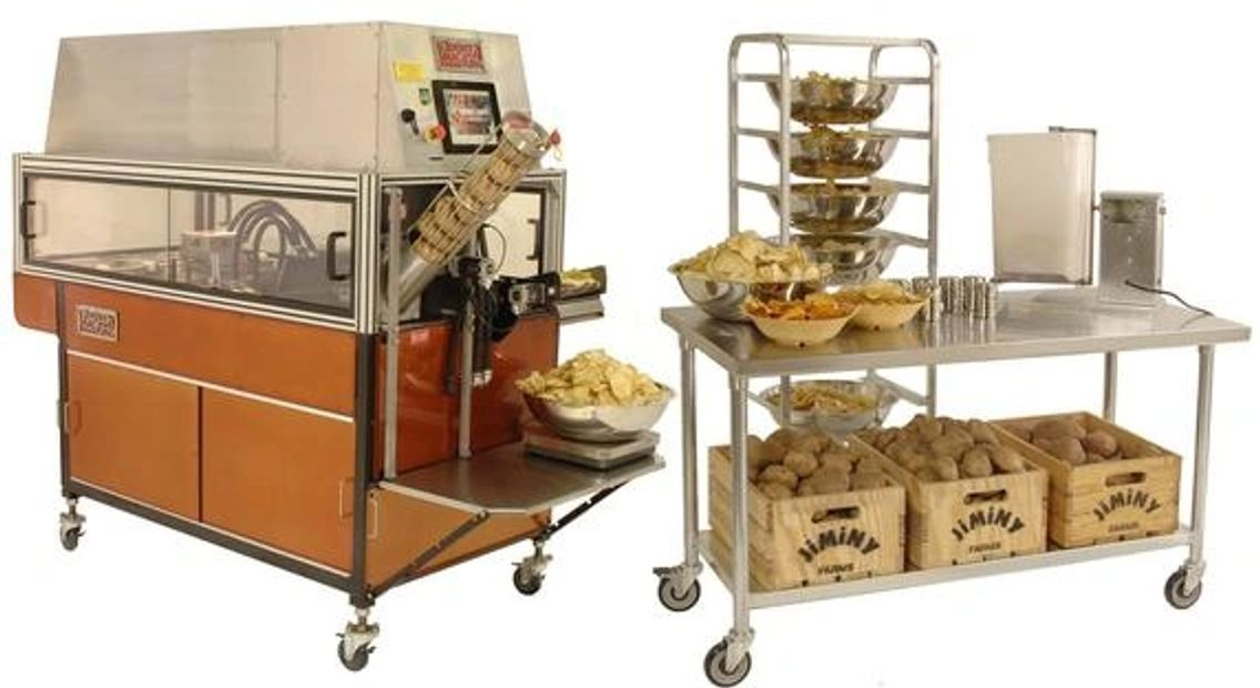JiMiNY SnacKing Machine All the equipment you need to make fresh chips.