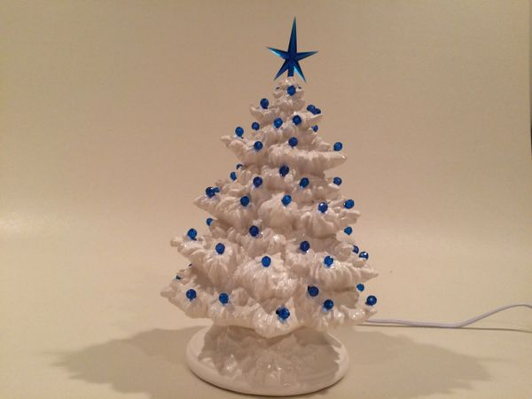 10 inch Small White Fir Christmas Tree