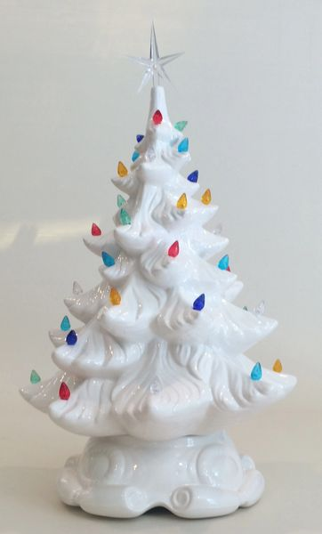 19 inch Medium White Christmas Tree