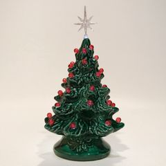 "6"" Green with Ruby Red Lights - Extra Small Christmas Tree"