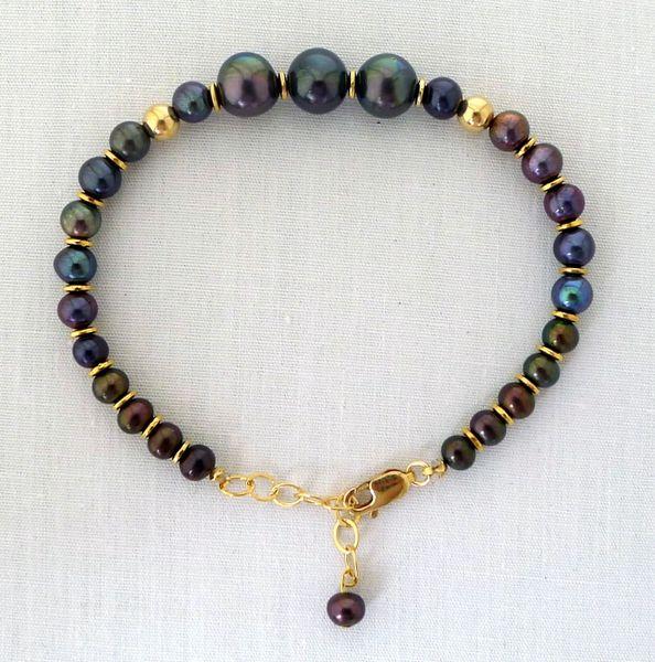 Raven Wing Pearl Bracelet