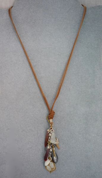 Beachcomber Necklace on Leather