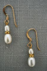 Pearl and 14 kt Gold Filled Earrings