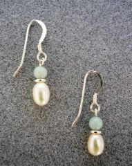 Amazonite and Pearl Earrings 2
