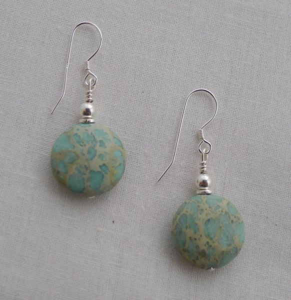 Aqua Terra Round Jasper Earrings