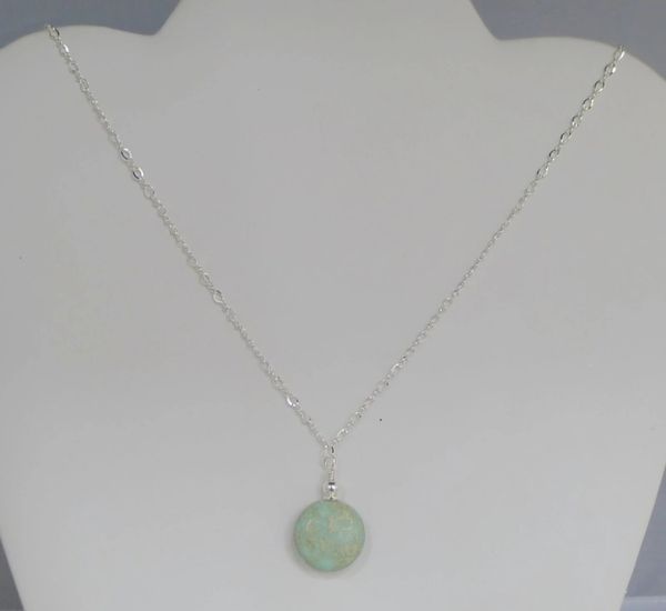 Aqua Terra Round Jasper Necklace