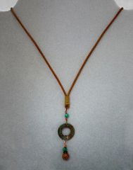 Copper, Turquoise and Jasper Necklace