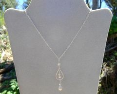 Pearl with Sterling Hoop Necklace