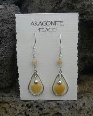 Aragonite Heart Earrings