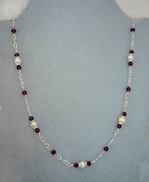 Crystal and Pearl Necklace
