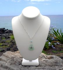 Sea Glass and Sterling Starfish Necklace