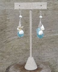 Mermaid Earrings in Light Turquoise