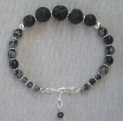 Lava and Sterling Silver Bracelet