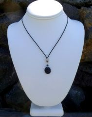 Lava Necklace with Leather