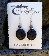 Lava and Obsidian Earrings