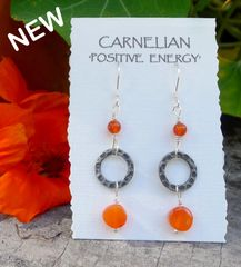 Carnelian and Ring Earrings